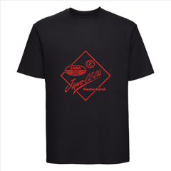 t shirt met rood clublogo